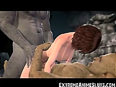 Ogres jizz in 3d woman!