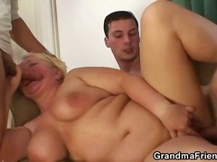 blond, ouma, bbw, driesaam, kom skoot, hand job, bj, hard