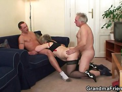 kom skoot, driesaam, hard, bj, ouma, blond, hand job