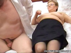 bj, ouer, hard, bed, paartjie, bbw, ouma