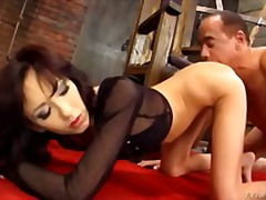 mager, pornostar, anal, asien, doggy-style, babe
