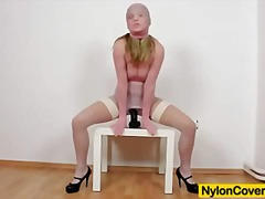 phantasie, massage, reiben, blond, flashen, model, uniform, dildo, masturbationen
